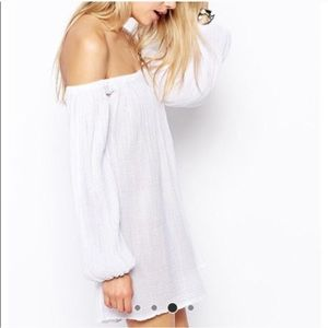 ASOS off the shoulder white dress